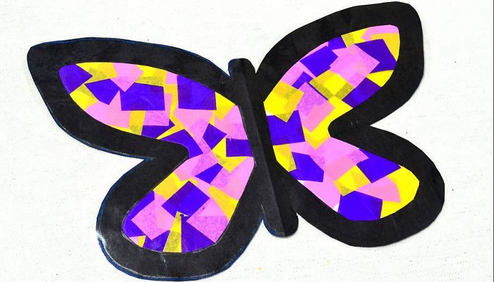 Mariposa de papel lista