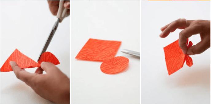 Cómo hacer mariposas de papel crepe