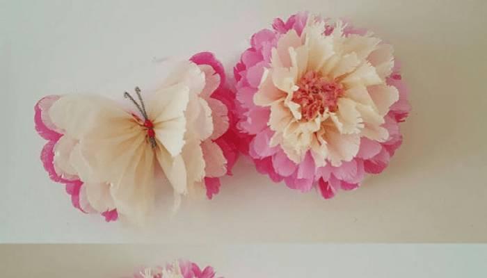 Mariposas de papel de seda